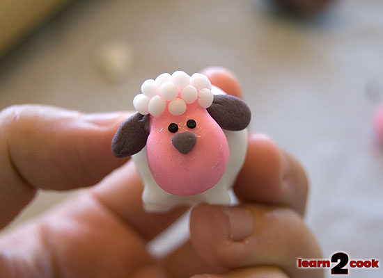 Easter Fondant Figures - Sheep Face