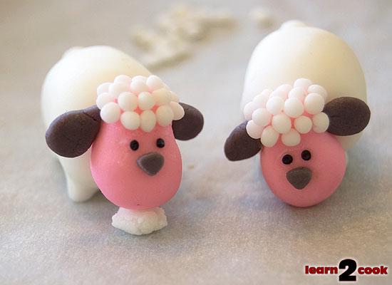 Easter Fondant Figures - Sheep