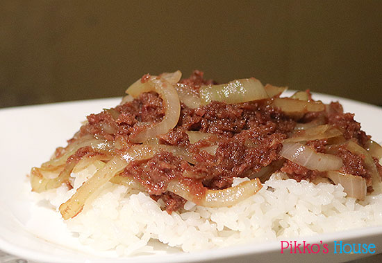 Teriyaki Corned Beef and Onions