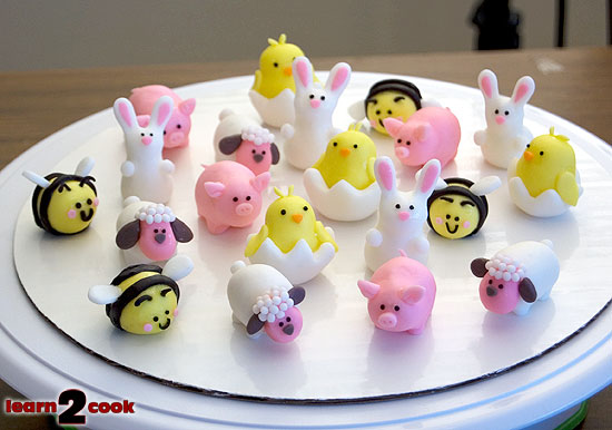 Fondant Easter Animals