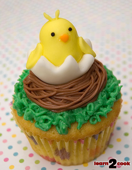 Easter Chick Cupcake