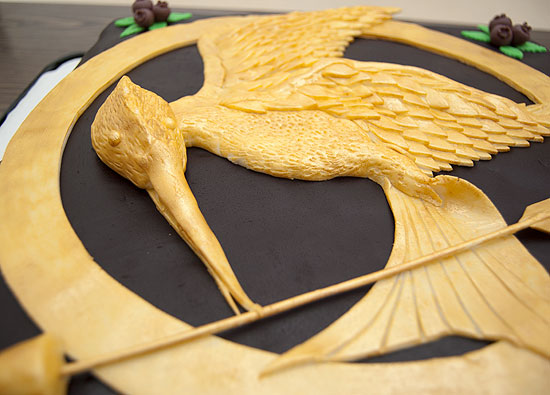 Mockingjay Close-up on Cake