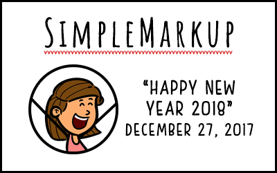 SimpleMarkup #16 – Happy New Year 2018!